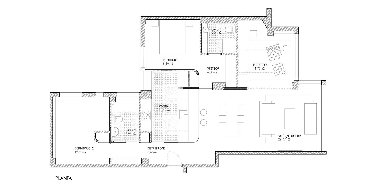 Reforma apartamento Planta